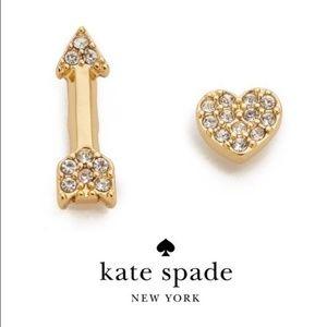 NWT Love List Heart and Arrow Mismatched Earrings